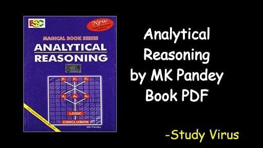 Analytical Reasoning by MK Pandey Book PDF Download