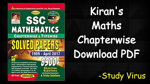 SSC MATHEMATICS Chapterwise Solved Papers Pdf (English and